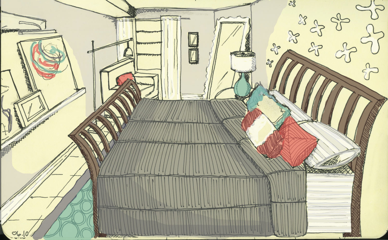 danielle's bedroom - sketch copy