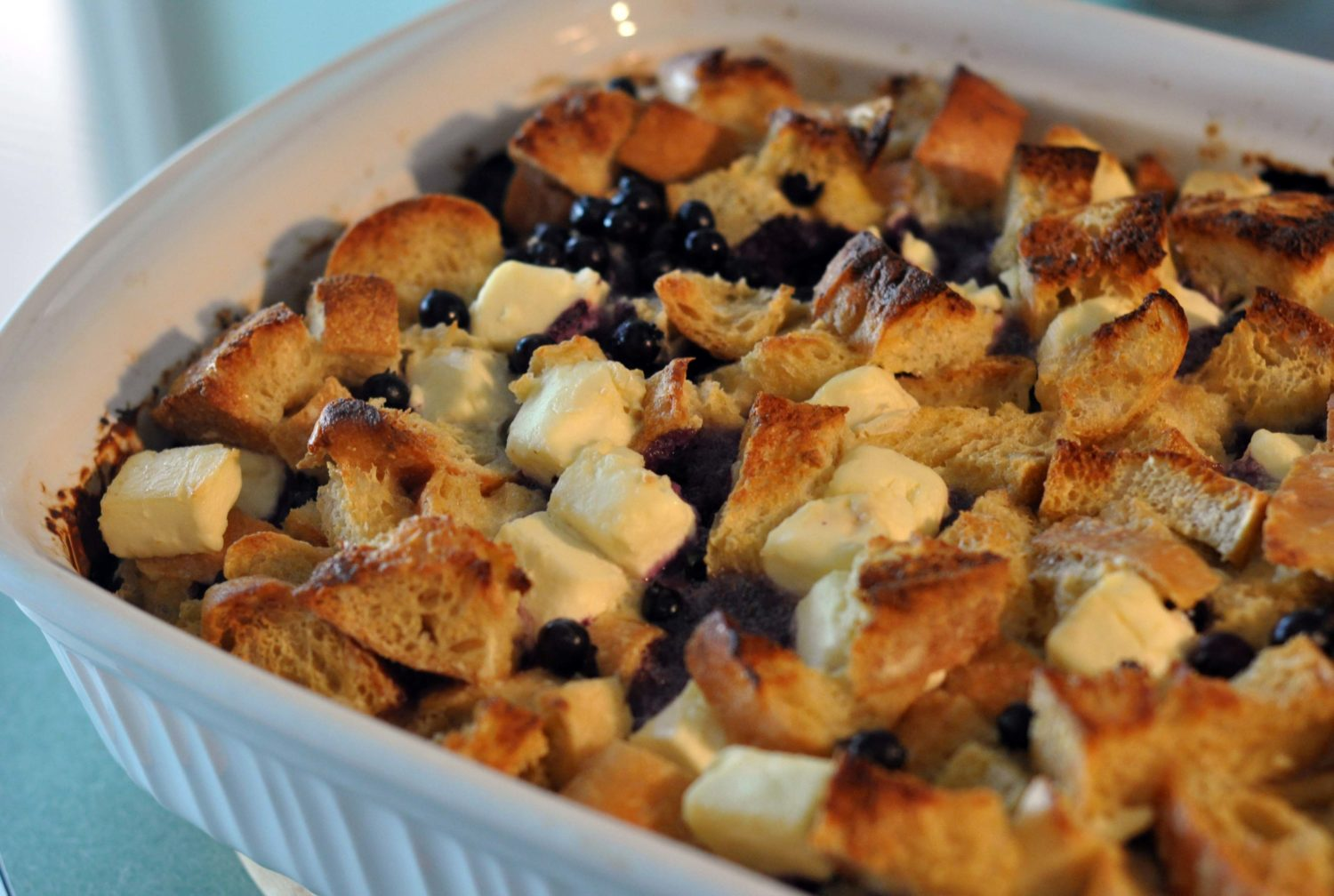 Baked Blueberry Cream Cheese French Toast | lark & linen