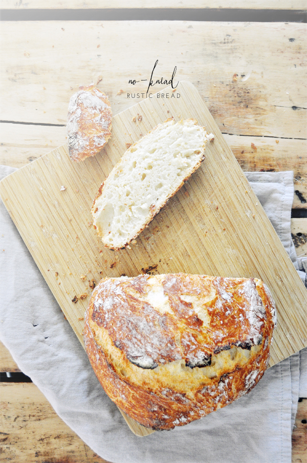 no-knead rustic bread (so easy a 4 year old could do it)