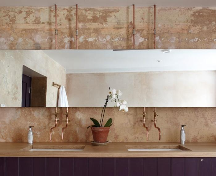 Inspiration pipe faucets lark linen for Copper in shower water
