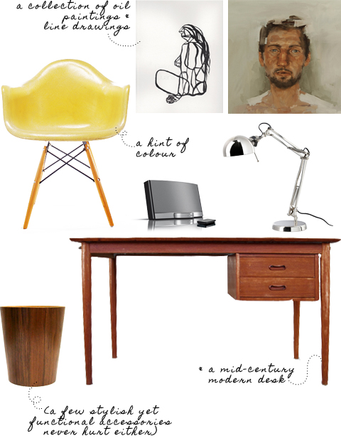 get the look a mid century modern home office