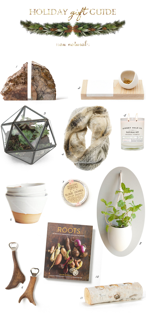 gift guide - au naturel