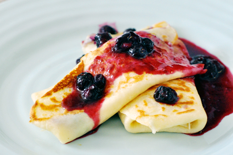 Blueberry Blintzes | lark & linen