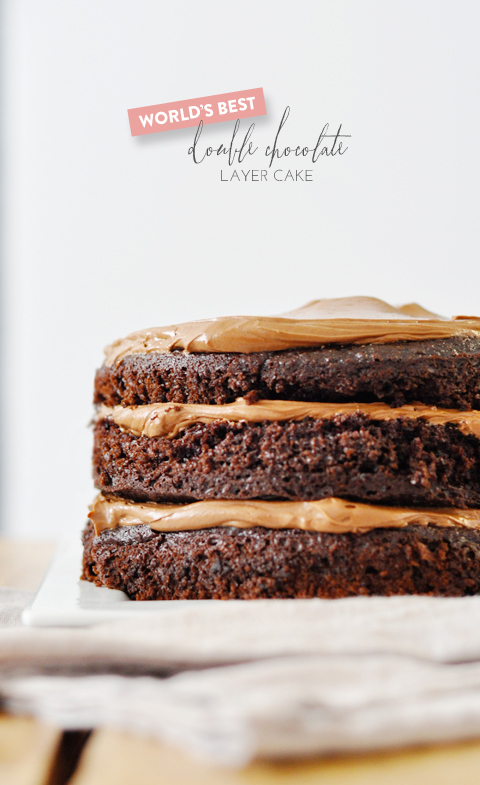 Worlds Best Chocolate Layer Cake lark linen