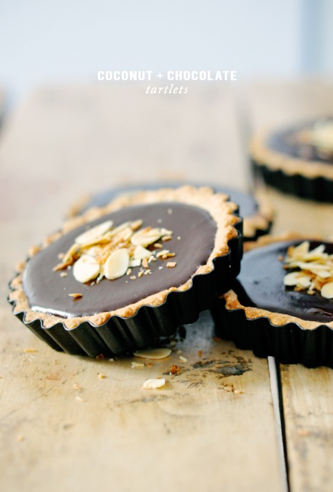 coconut-chocolate-tartlets