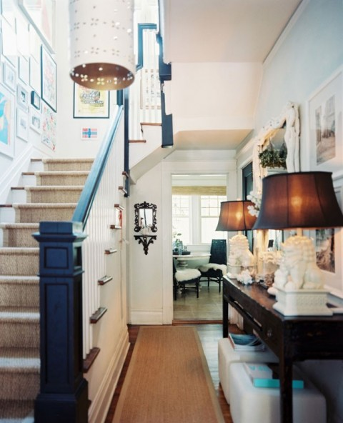 traditional-eclectic-staircase-entryway