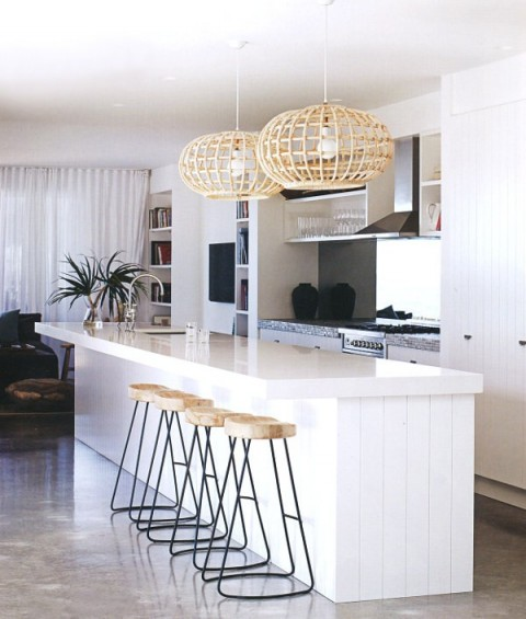 modern white kitchn - beach house