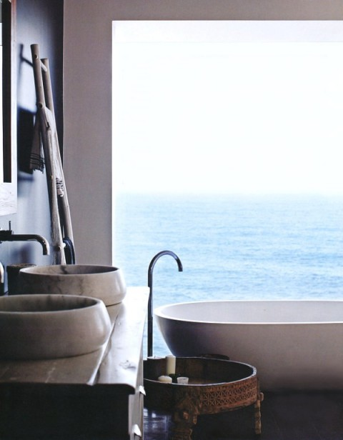 washroom with a view -  beach house