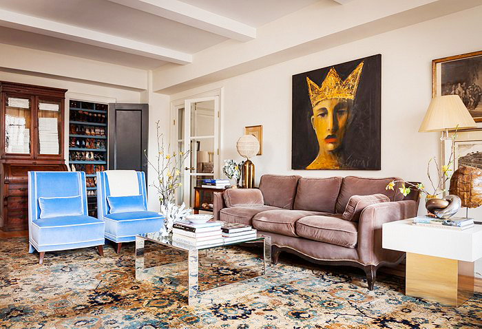 Eclectic apartment in NYC Dreamy unexpected eclectic living room ...