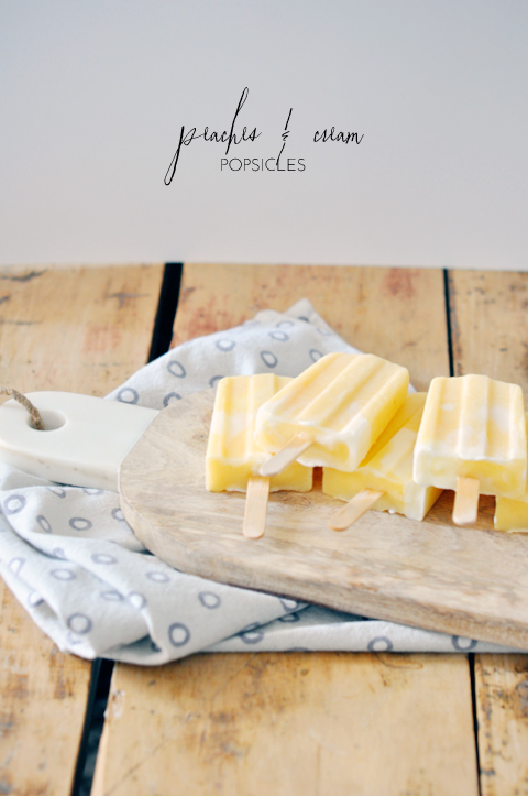 Peaches and cream popsicles | Lark & Linen