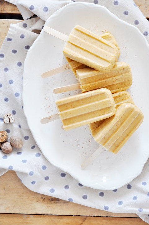 5 minute pumpkin spice latte popsicles