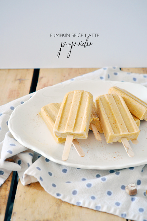 Fall recipe: the pumpkin spice latte popsicle!