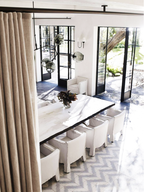 Casual glam dining room