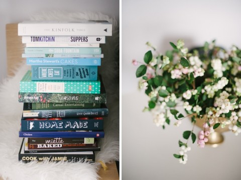 A stack of cookbooks | Lark & Linen Interior Design