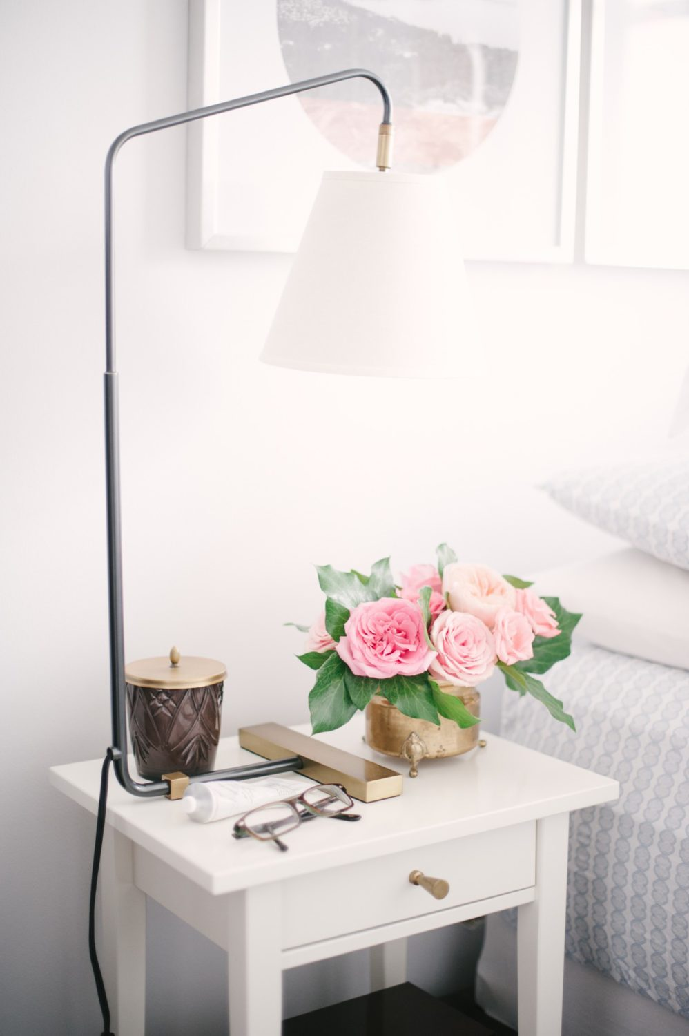 Nightstand styling | Lark & Linen Interior Design