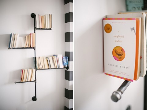 Pipe bookshelf | Lark & Linen Interior Design