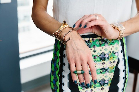 Athena Calderone's arm candy