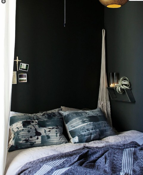 Brooklyn apartment: navy bedroom