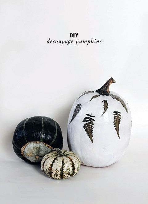 Beautiful DIY decoupaged pumpkins