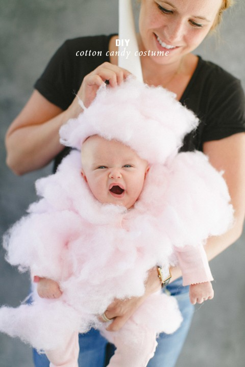 DIY cotton candy costume. Heart explosion.