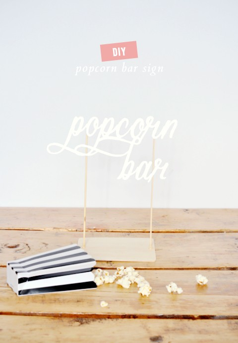 DIY popcorn bar sign (a free printable!)