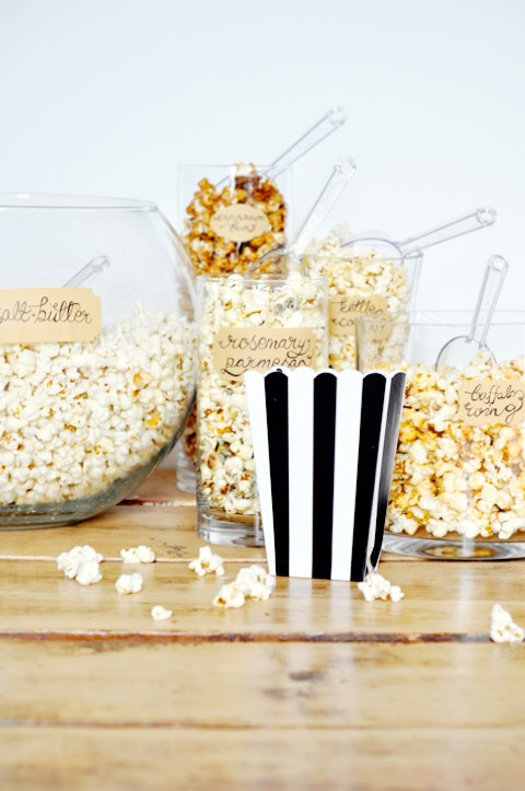 Party idea: a popcorn bar