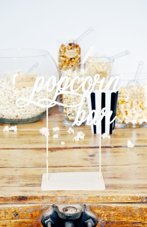 Grab the steps to create your own popcorn bar for your next party!