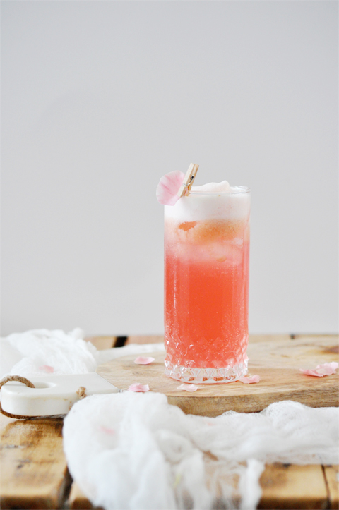 Raspberry cocktail (with a splash of rose water!)