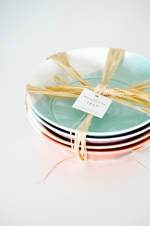 colorful serving dishes