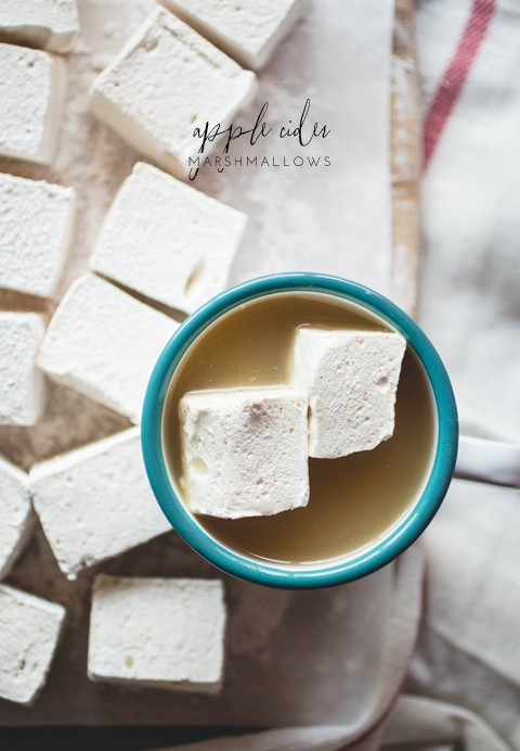 homemade apple cider marshmallows