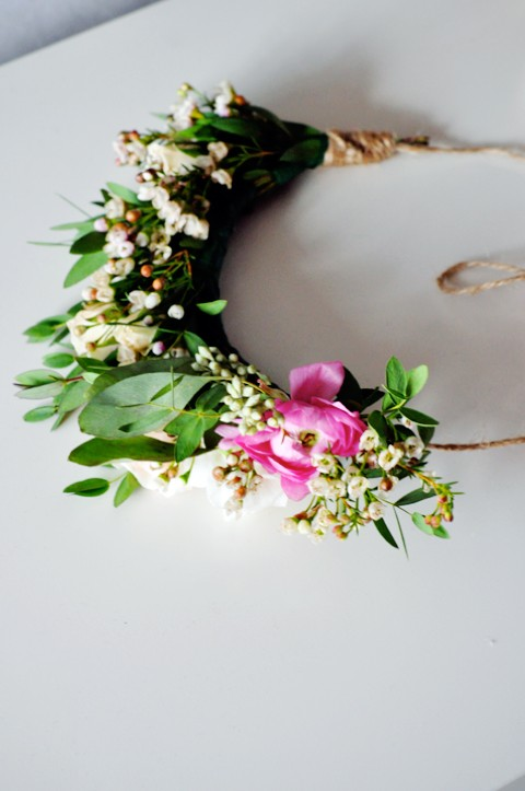 Homemade flower crown