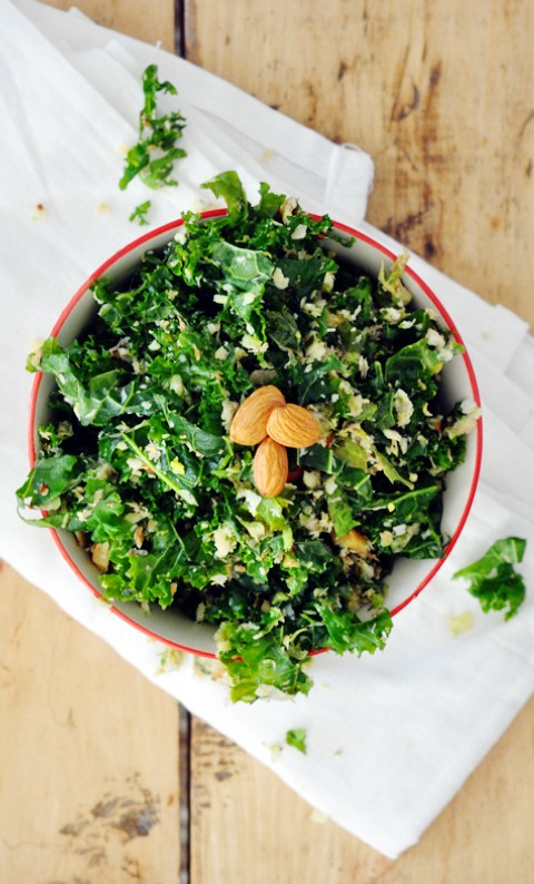 Healthy, nutritious, delicious, kale & brussels sprouts salad