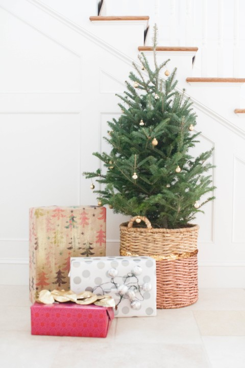 DIY Christmas Tree Basket