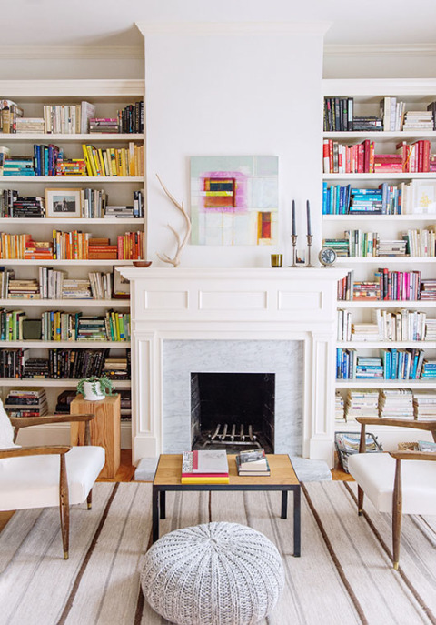 Beautiful Bookshelf Styling Ideas March 2 2015 Colorful Books