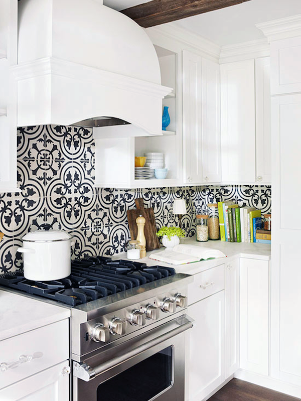 encaustic graphic tiles at a fraction of the price lark linen - Ceramic Tile Kitchen Backsplash
