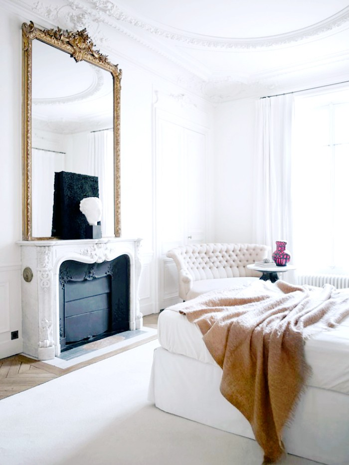 Glam Parisian bedroom