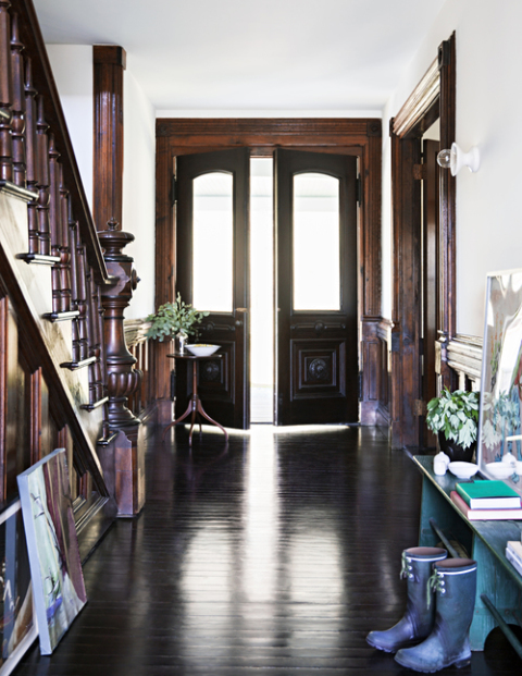 Victorian Foyer : Modern victorian home in upstate new york