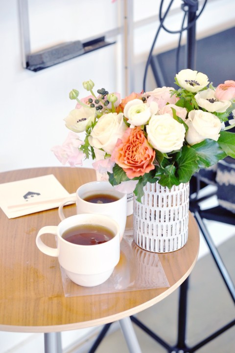 Tea and flowers