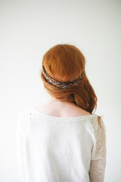 The twisted ponytail tutorial