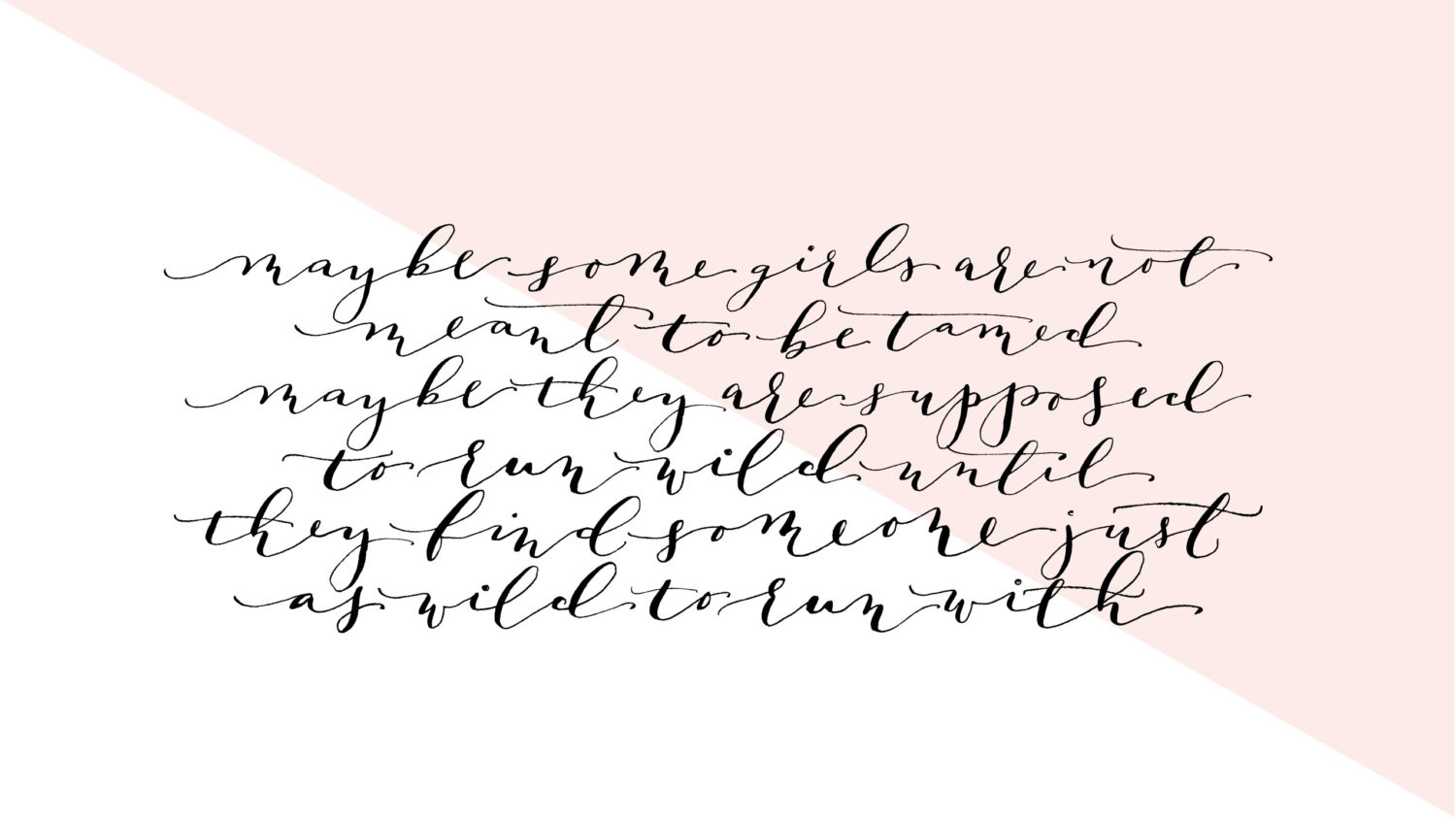 Free Calligraphy Desktop Wallpaper  Lark &amp Linen