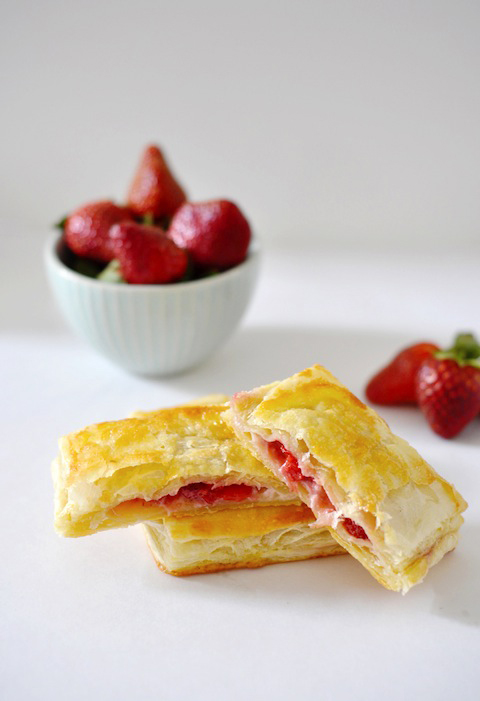 Strawberry cream hand pies