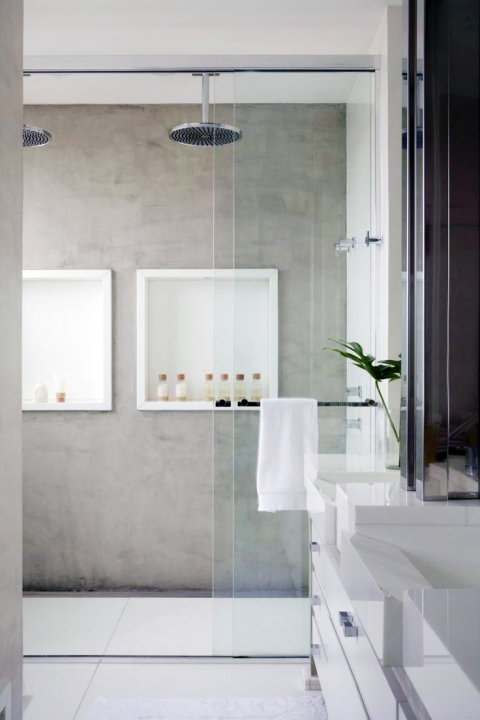 Cement bathroom