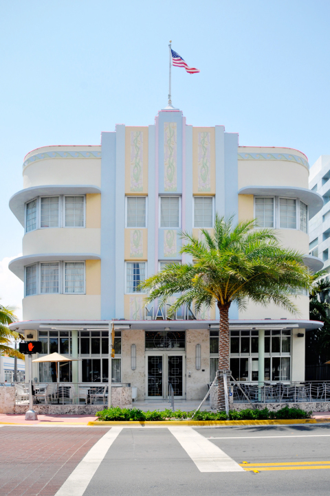 Art deco building in Miami