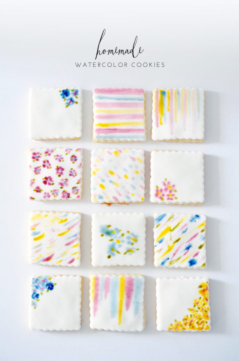 Paintable watercolor cookies