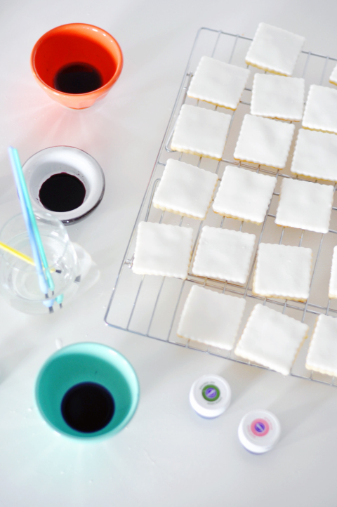 Homemade watercolor cookies
