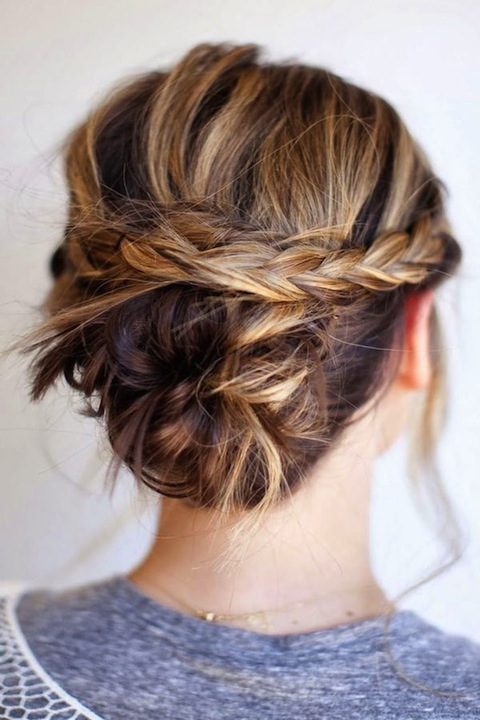 Summer hair-do: braided bun