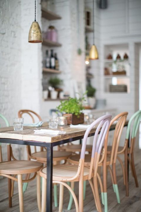Pastel dipped chairs