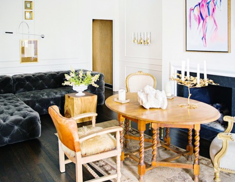 Dining Room White Eclectic