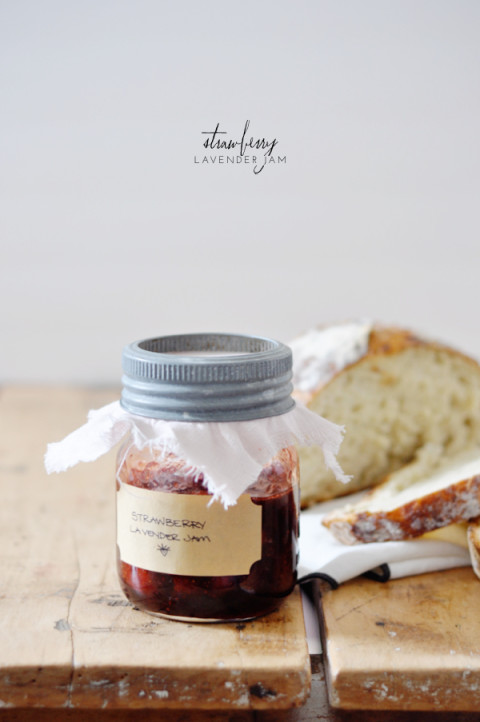 Strawberry lavender jam recipe