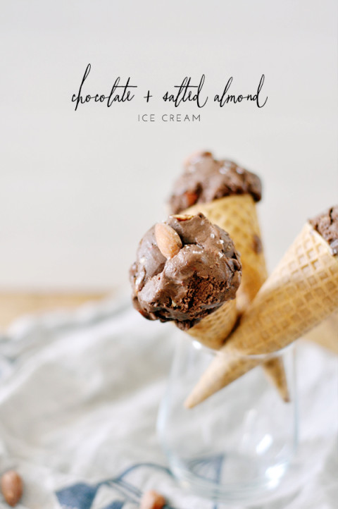 chocolate and salted almond ice cream